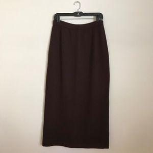 St. John Collection   Santana Knit Brown Skirt 10